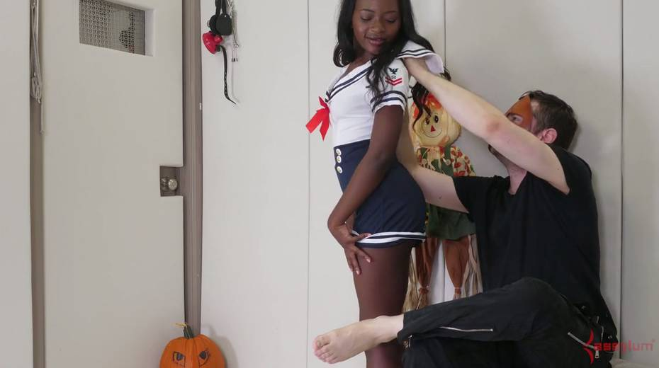 Black like a coal chick Noemie Bilas gets her anus toyed and rammed hard - 2. pic
