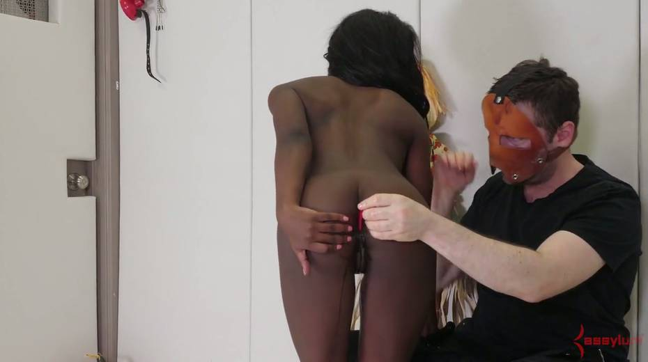 Black like a coal chick Noemie Bilas gets her anus toyed and rammed hard - 5. pic