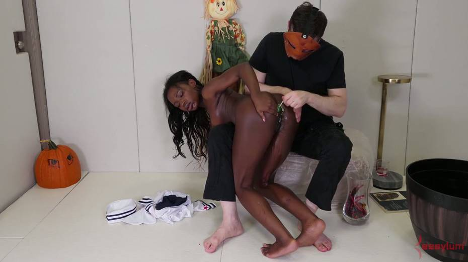 Black like a coal chick Noemie Bilas gets her anus toyed and rammed hard - 6. pic