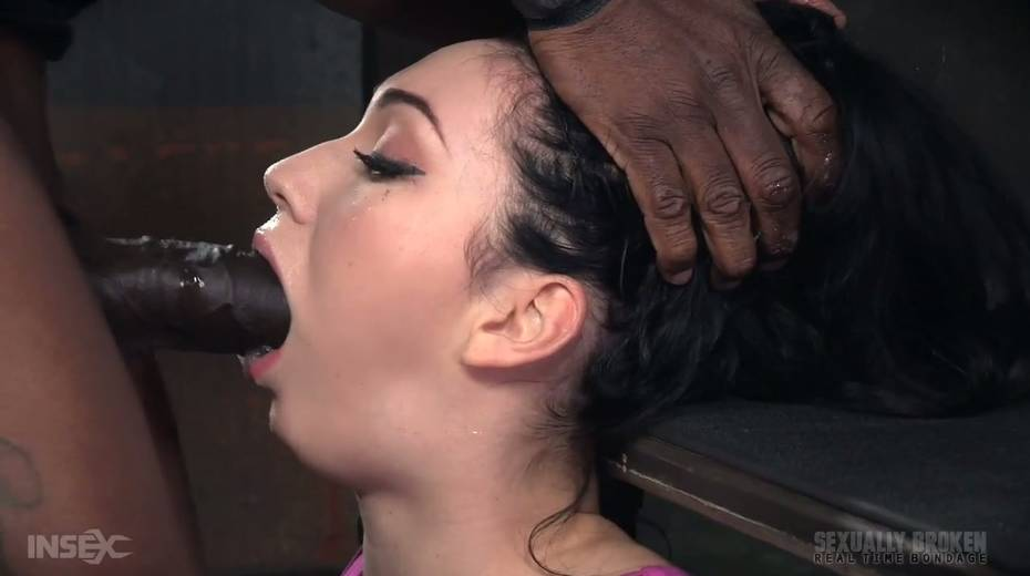 BBC and white dude fuck throat of Aria Alexander - 18. pic