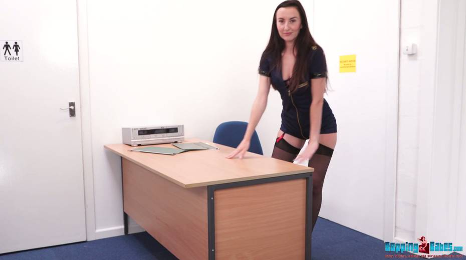 Leggy secretary in stockings Sophia Smith takes off her clothes in the office - 3. pic