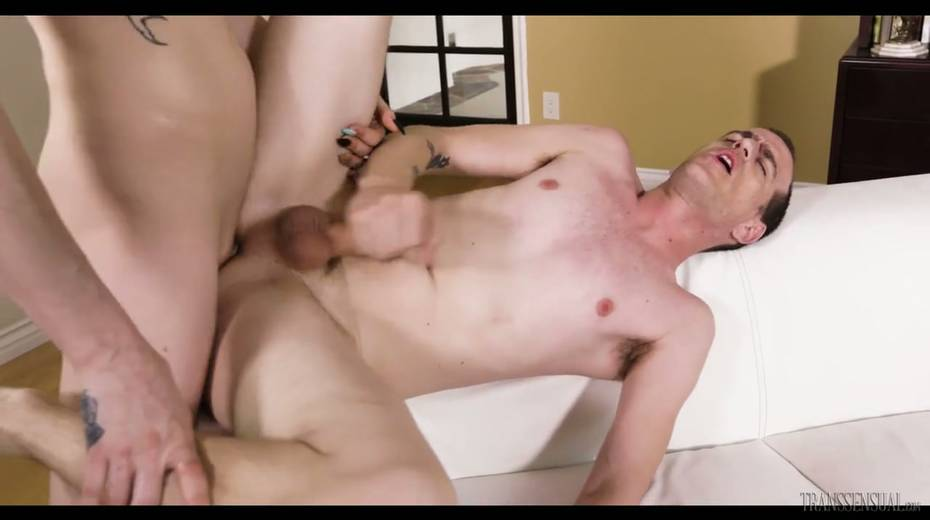 Nerd dude in glasses is fucked hard by tall leggy ladyboy Casey Kisses - 20. pic