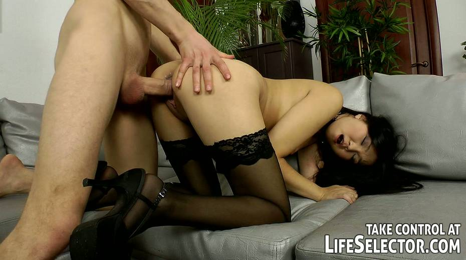 This wanton Asian hoe like both vaginal and anal sex with her BF - 10. pic