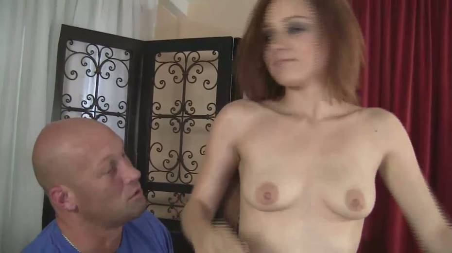 Slim red haired girl Jessica Anderson is impaled on a huge thick cock - 4. pic