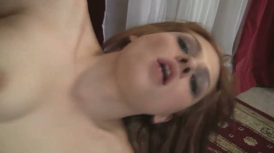 Slim red haired girl Jessica Anderson is impaled on a huge thick cock - 25. pic