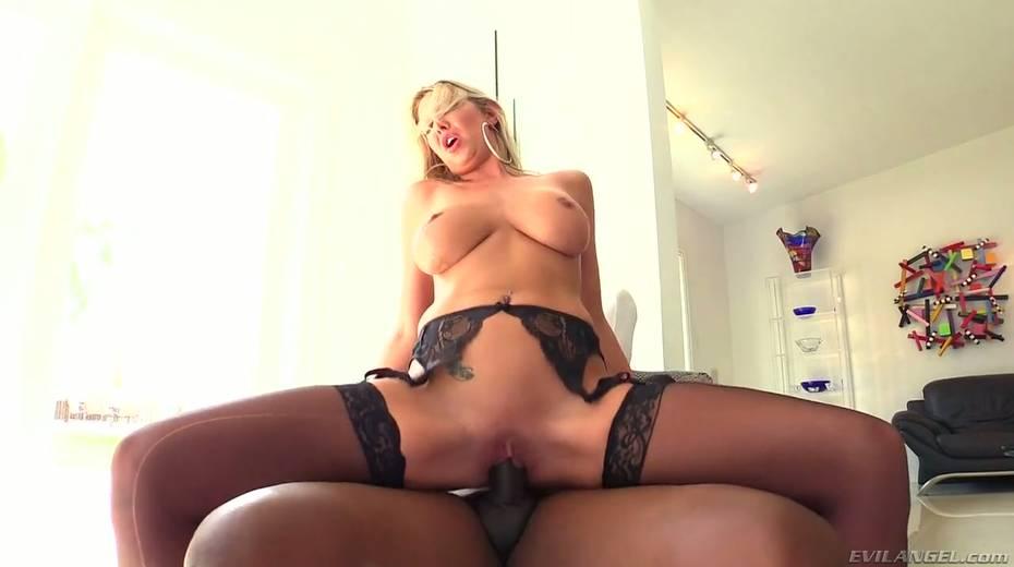 Seductive hottie Lexi Lowe enjoys having dirty interracial anal sex - 7. pic