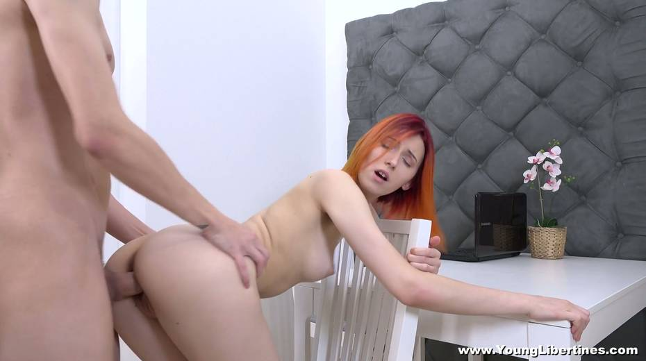 Estonian red head Elin Holm is fucked by womanish college fellow - 20. pic