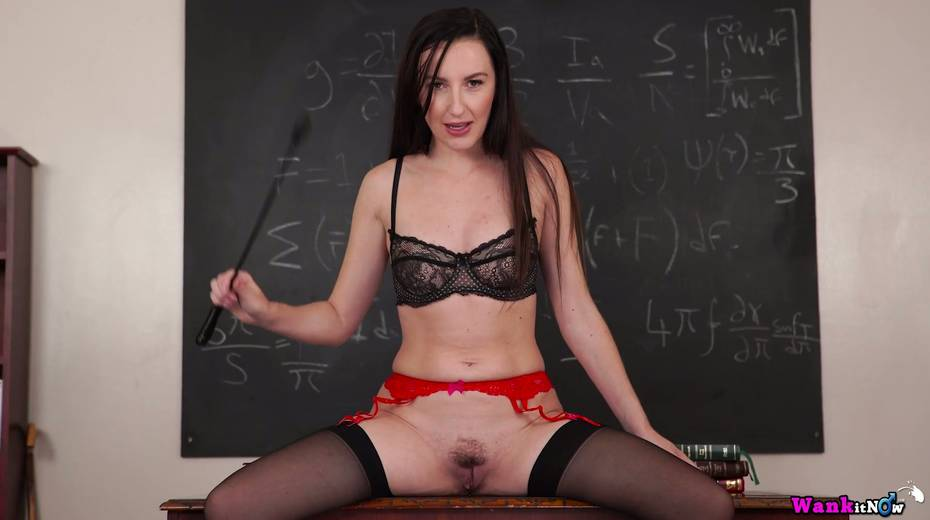 Killing hot teacher Sophia Smith gets naked and masturbates on the table - 18. pic