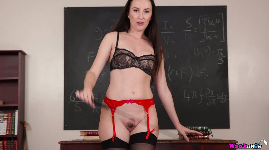 Killing hot teacher Sophia Smith gets naked and masturbates on the table - 20. pic