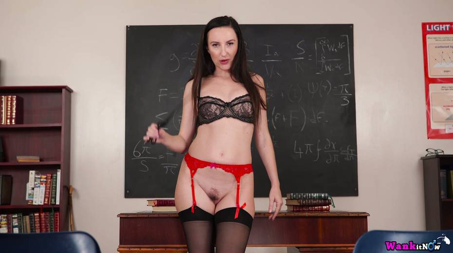 Killing hot teacher Sophia Smith gets naked and masturbates on the table - 21. pic