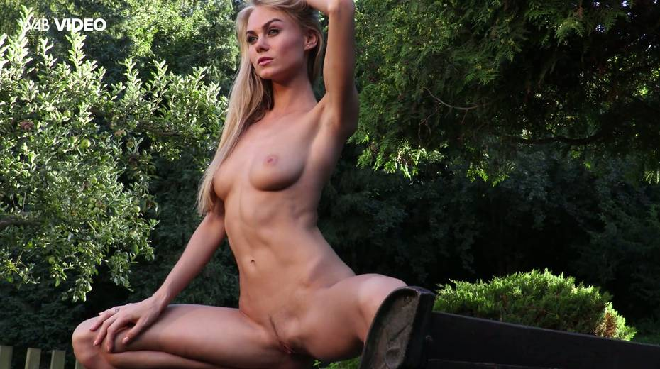 Eye catching babe Nancy A is masturbating her pussy in the garden - 7. pic