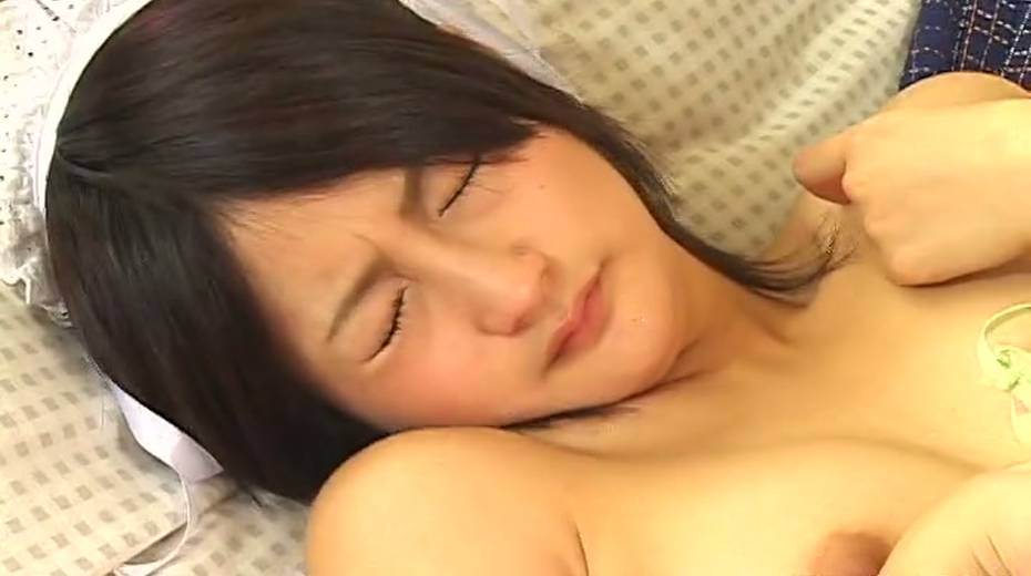 Charming Japanese maid is finger fucked passionately upskirt - 12. pic