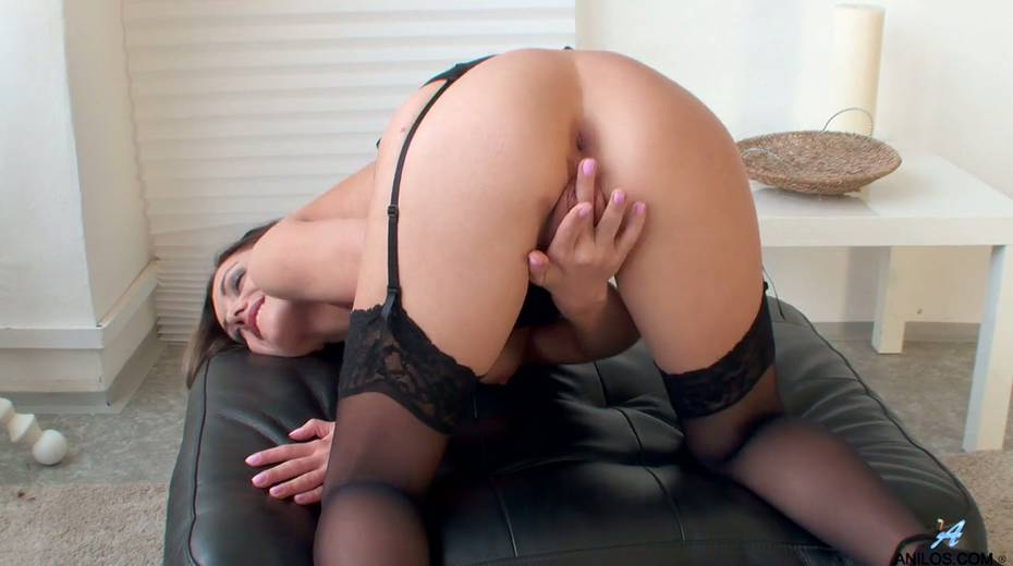 Gorgeous milf in stockings Dominica Phoenix is finger fucking pussy doggy style - 11. pic