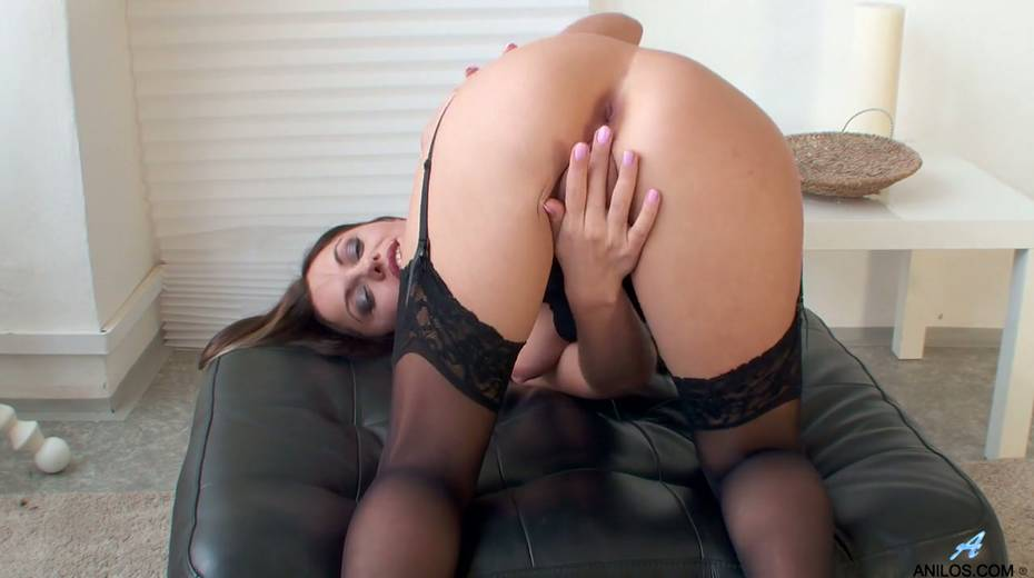 Gorgeous milf in stockings Dominica Phoenix is finger fucking pussy doggy style - 12. pic