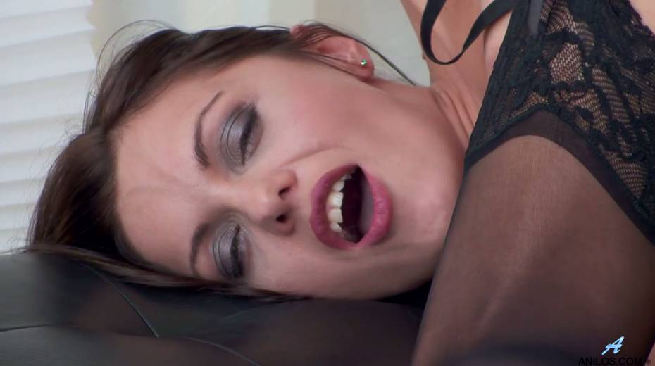 Gorgeous milf in stockings Dominica Phoenix is finger fucking pussy doggy style - 17. pic