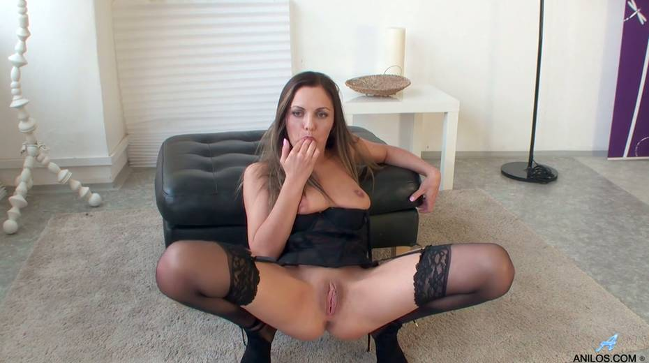 Gorgeous milf in stockings Dominica Phoenix is finger fucking pussy doggy style - 20. pic