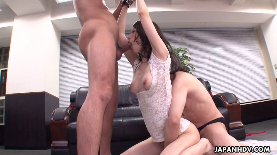 Asian secretary Mitsuki is fucked by several co-workers right in the office - 11. pic
