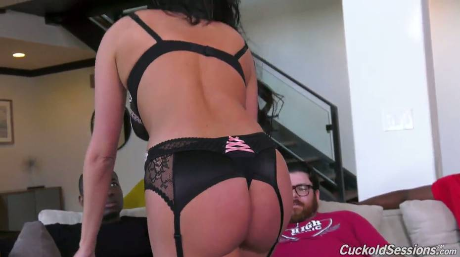 French whore wife Anissa Kate goes black in front of her cuckold husband - 2. pic