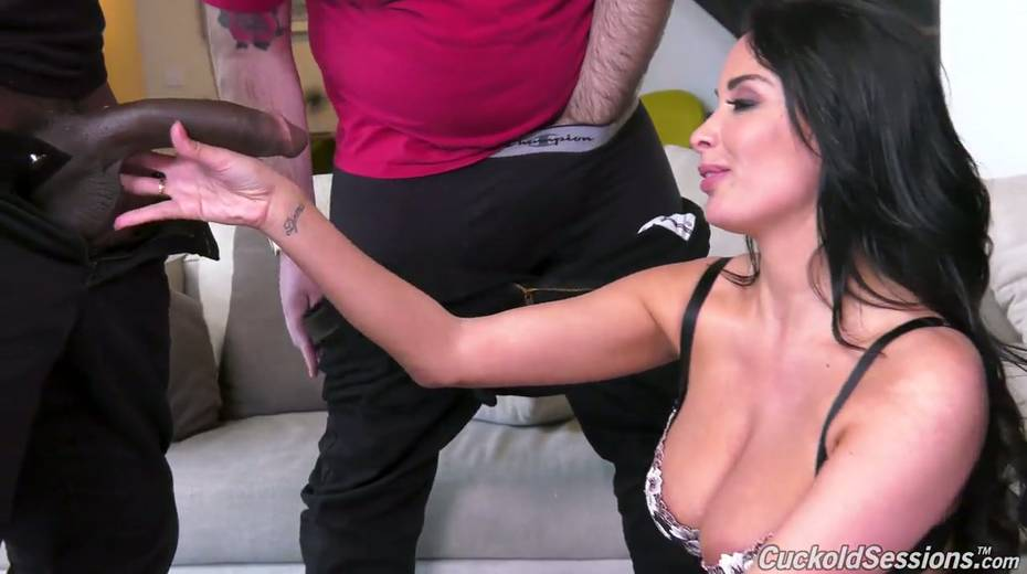 French whore wife Anissa Kate goes black in front of her cuckold husband - 3. pic