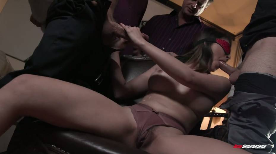 Crazy blowbang video featuring stunning big tittied babe - 9. pic