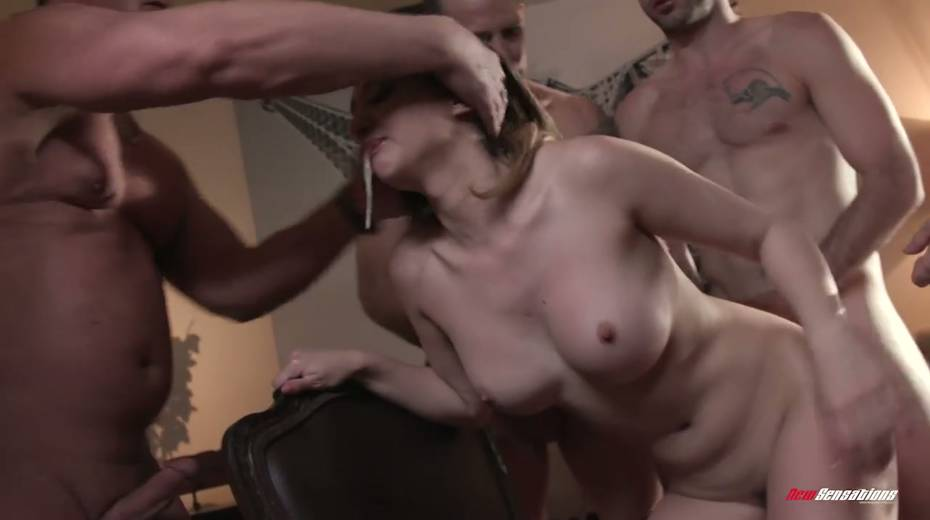 Crazy blowbang video featuring stunning big tittied babe - 15. pic
