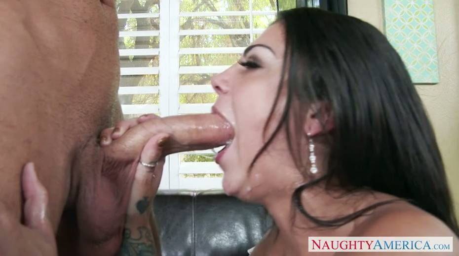 Seductive brunette milf provides her young boss with great blowjob - 9. pic