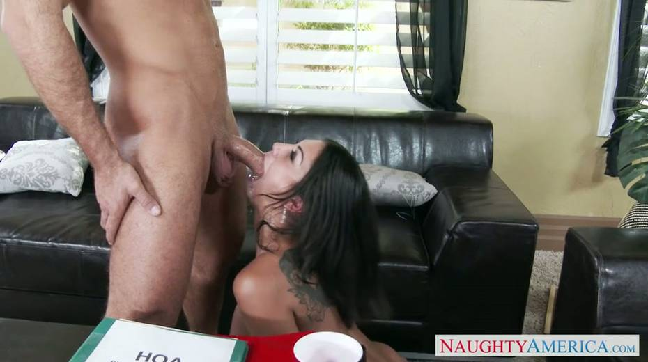 Seductive brunette milf provides her young boss with great blowjob - 11. pic