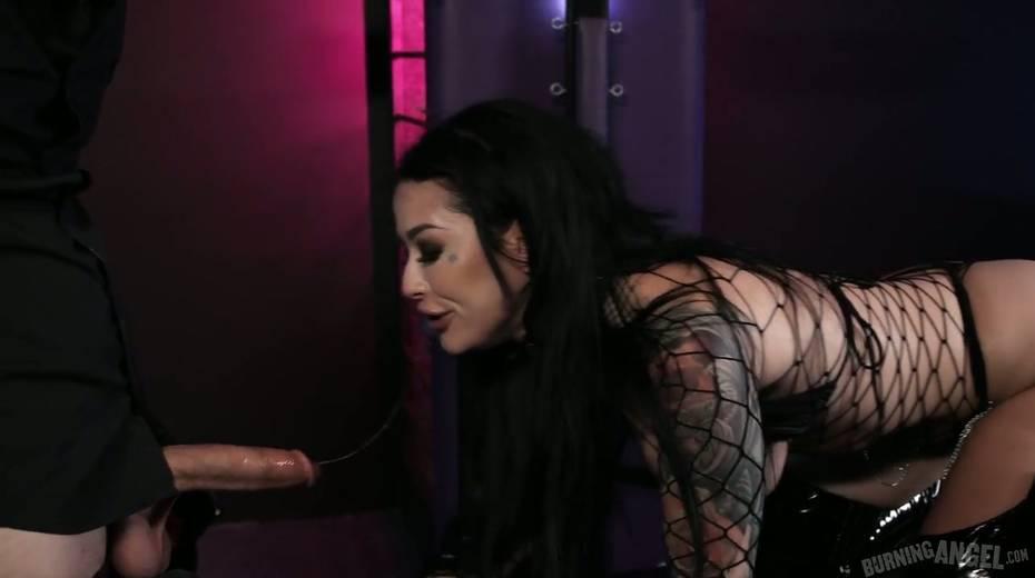 Sassy tattooed slut in body fishnet Katrina Jade is fucked by brutal tattooed dude - 6. pic