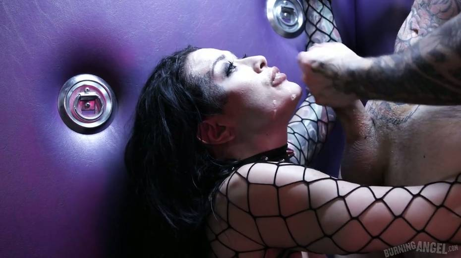 Sassy tattooed slut in body fishnet Katrina Jade is fucked by brutal tattooed dude - 28. pic