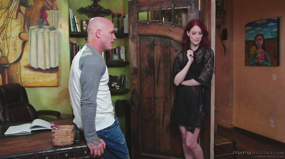 Red haired seductress Alex Harper is pleasing her regular client - 2. pic