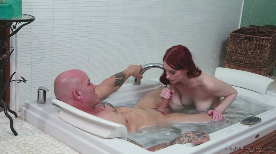 Red haired seductress Alex Harper is pleasing her regular client - 9. pic