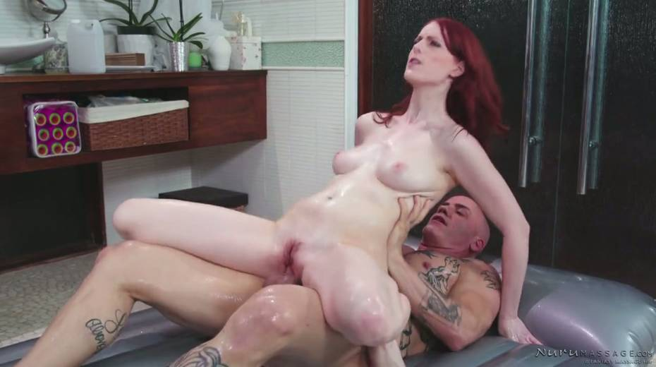 Red haired seductress Alex Harper is pleasing her regular client - 20. pic