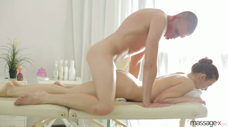 Real charmer Margarita C Peachy is oiled up and fucked on the massage table - 23. pic