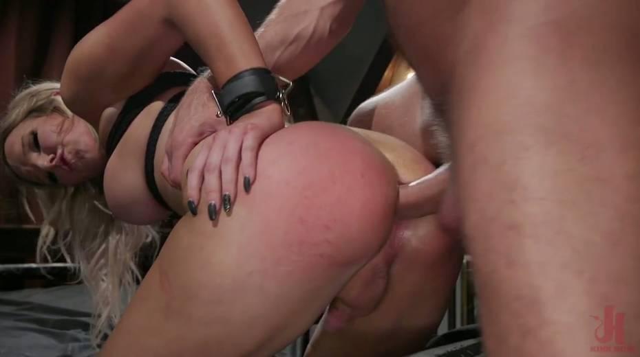 Slutty ladyboy Kayleigh Coxx is tied up and fucked by horny pervert - 10. pic