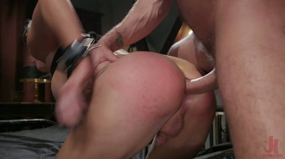 Slutty ladyboy Kayleigh Coxx is tied up and fucked by horny pervert - 11. pic