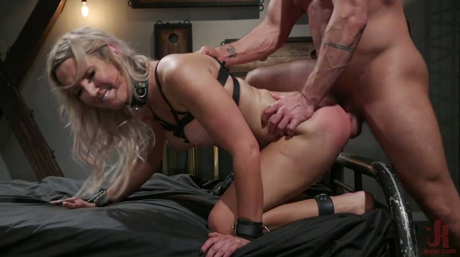Slutty ladyboy Kayleigh Coxx is tied up and fucked by horny pervert - 12. pic