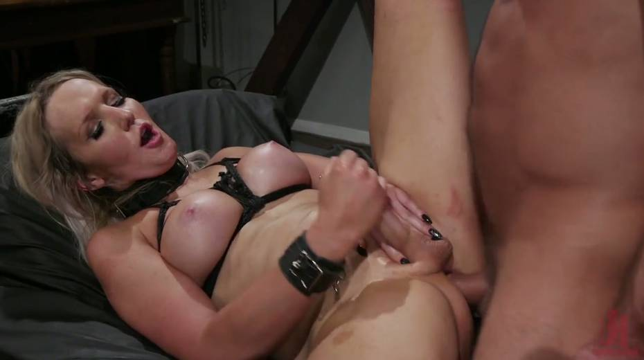 Slutty ladyboy Kayleigh Coxx is tied up and fucked by horny pervert - 17. pic
