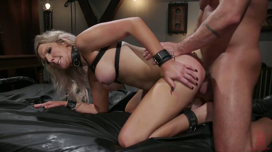 Slutty ladyboy Kayleigh Coxx is tied up and fucked by horny pervert - 19. pic