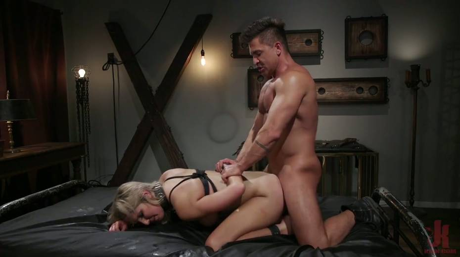 Slutty ladyboy Kayleigh Coxx is tied up and fucked by horny pervert - 22. pic