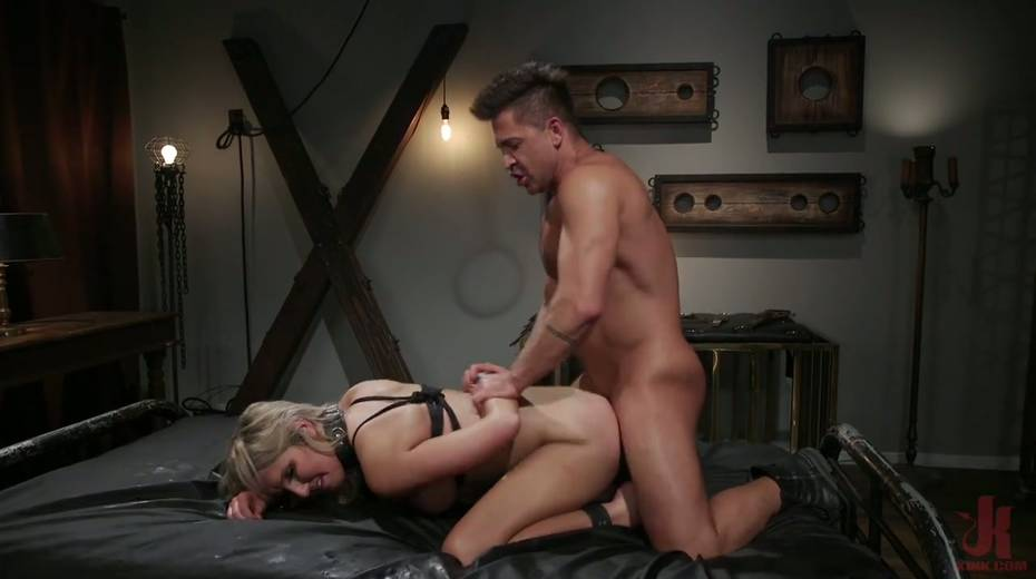 Slutty ladyboy Kayleigh Coxx is tied up and fucked by horny pervert - 23. pic