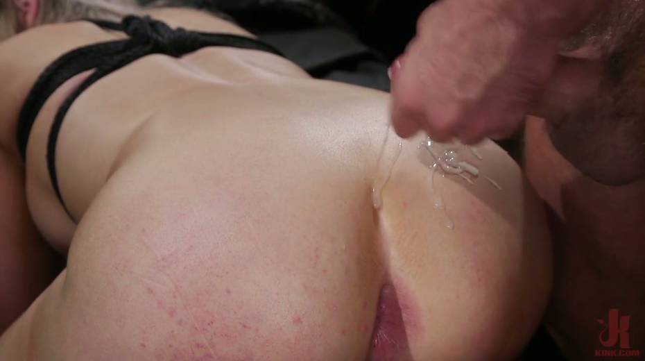 Slutty ladyboy Kayleigh Coxx is tied up and fucked by horny pervert - 24. pic