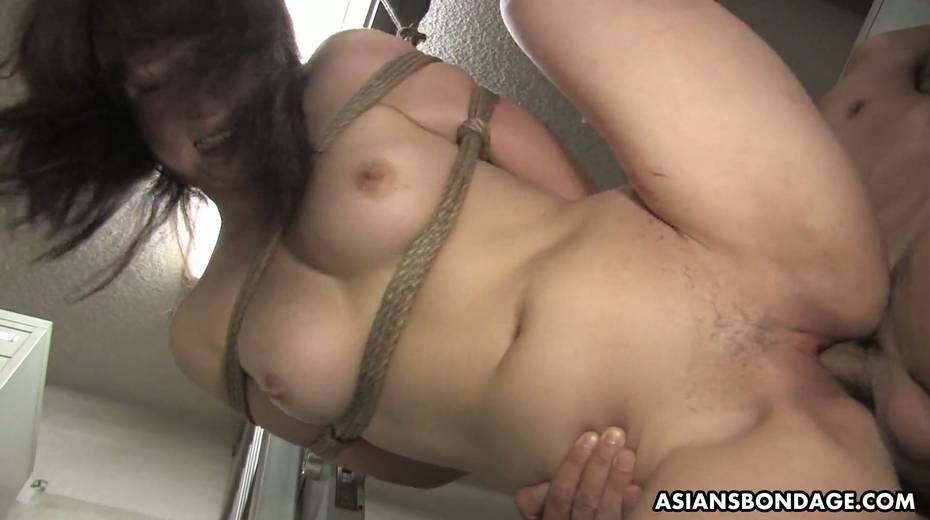 Kinky dude fucks tied up Japanese chick Yukina Mori and cums in her muff - 12. pic