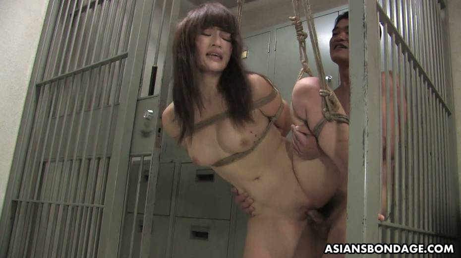 Kinky dude fucks tied up Japanese chick Yukina Mori and cums in her muff - 16. pic