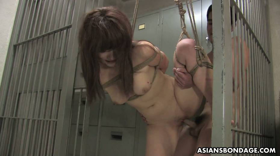 Kinky dude fucks tied up Japanese chick Yukina Mori and cums in her muff - 17. pic