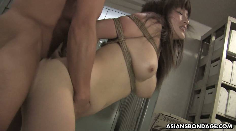 Kinky dude fucks tied up Japanese chick Yukina Mori and cums in her muff - 28. pic