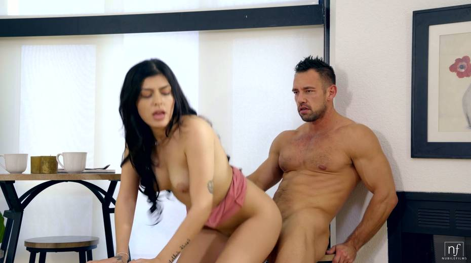 Naughty brunette Audrey Royal gets her muff nailed by hot blooded Johnny Castle - 20. pic