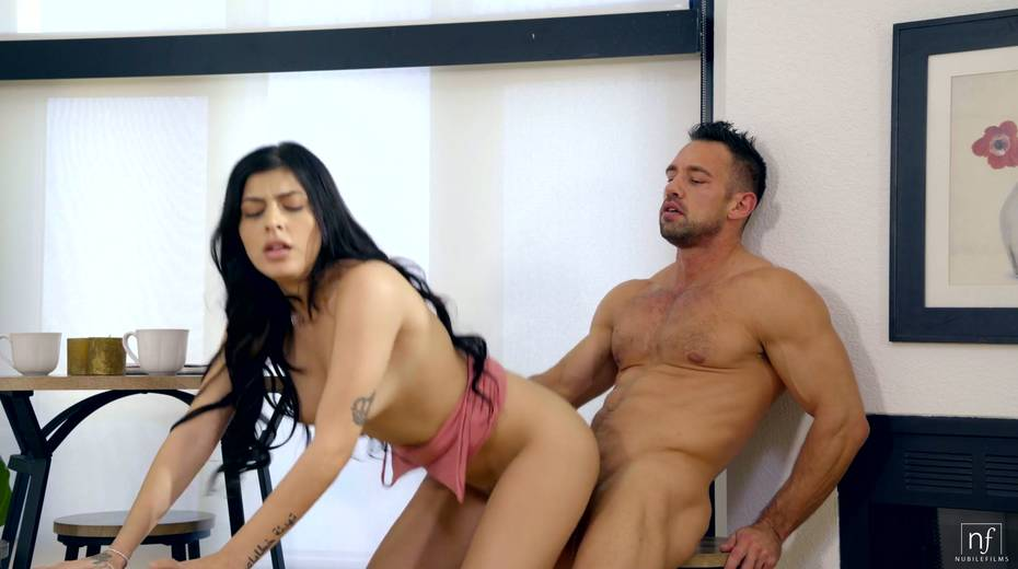 Naughty brunette Audrey Royal gets her muff nailed by hot blooded Johnny Castle - 23. pic