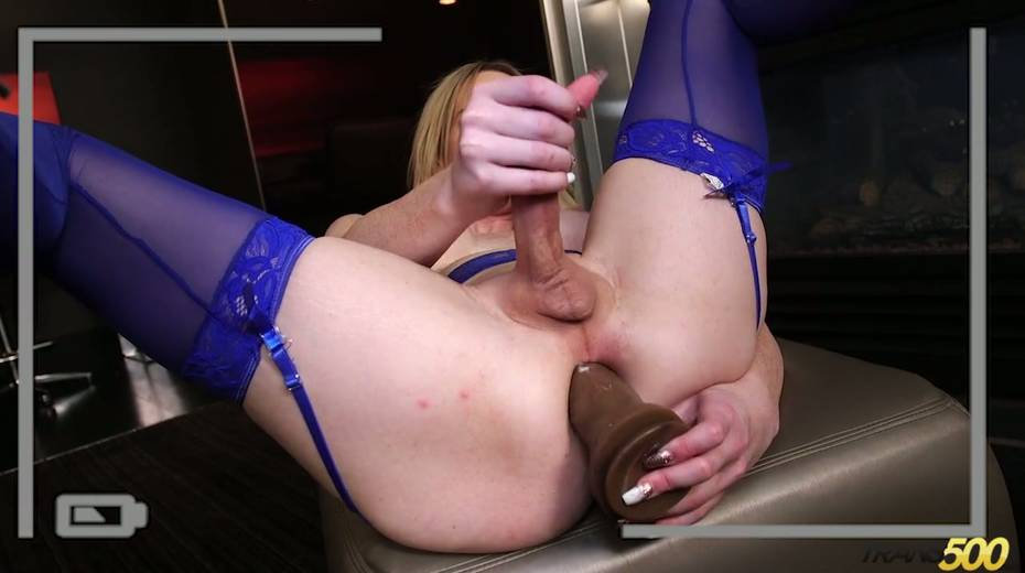 Sex-hungry tranny Kayleigh Coxx dildo fucks stretched anal hole - 12. pic