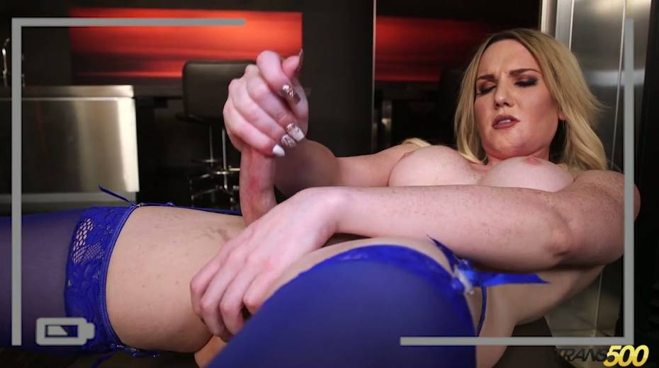 Sex-hungry tranny Kayleigh Coxx dildo fucks stretched anal hole - 18. pic