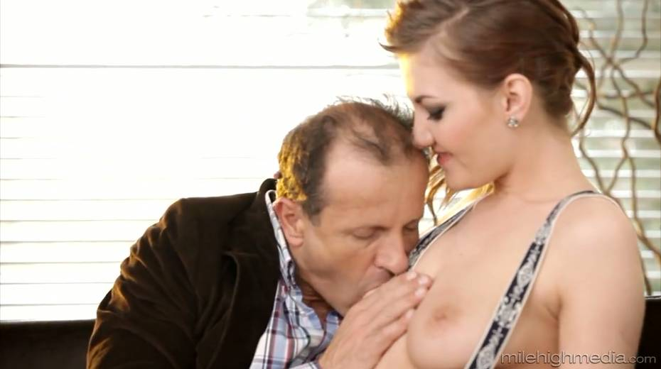 Yummy chick Gabrielle Daniels is making love with her elder lover - 3. pic